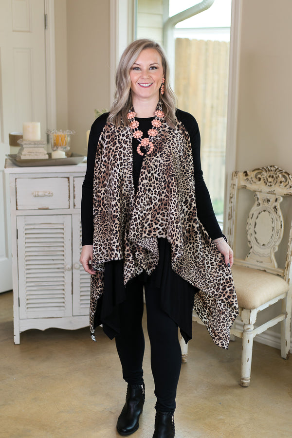 Swear By This Leopard Print Vest in Brown