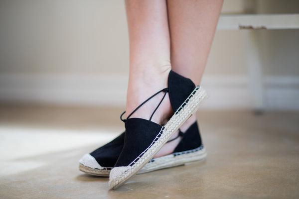 Cute Trendy Flat Espadrille Sandals
