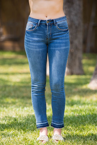 Make It Worth It Ankle Skinny Jeans in Medium Wash
