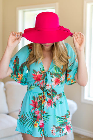 In Over My Head Floppy Hat in Pink