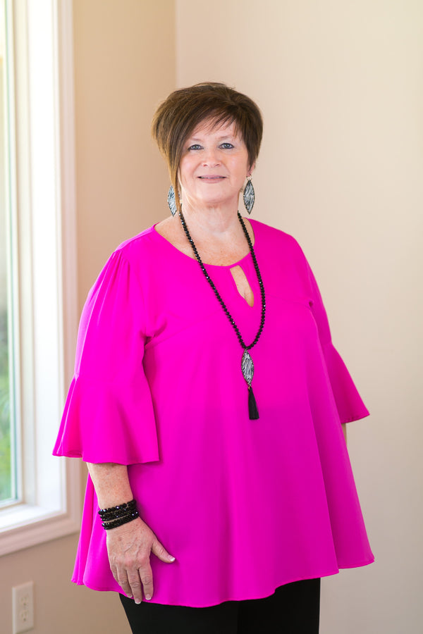 she and sky meet me in the middle plus size curvy girl fashions trendy boutique hot pink magenta fuchsia