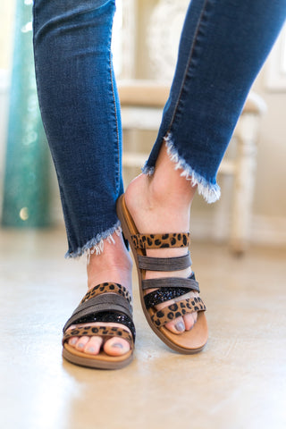 Very G | Ginger Strappy Sandals in Leopard