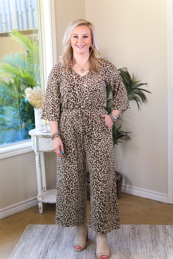 Finders Keepers Wide Leg Jumpsuit in Leopard Print