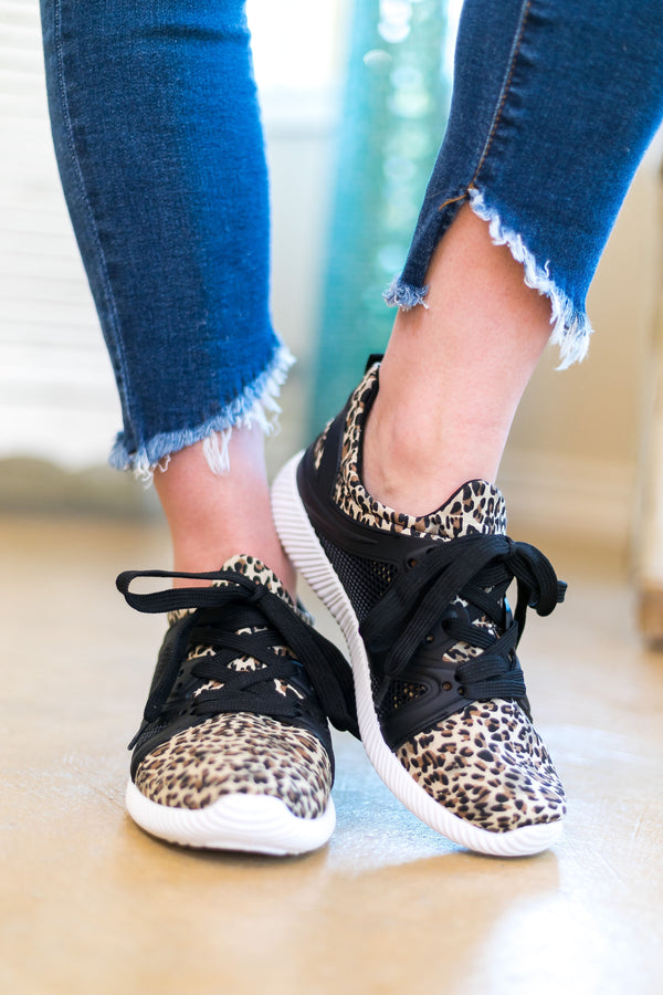 Leopard Print Athletic Shoes | Trendy Boutique Sneakers