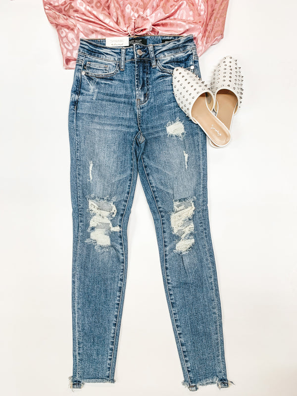 Judy Blue | Dreaming of This Destroy Knee High Waist Skinny Jeans