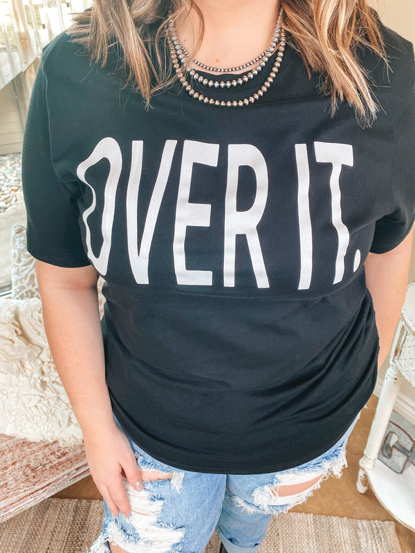 Over It Sleeve Graphic Tee in Black