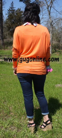 A Spot To Snuggle Orange Slouchy Top