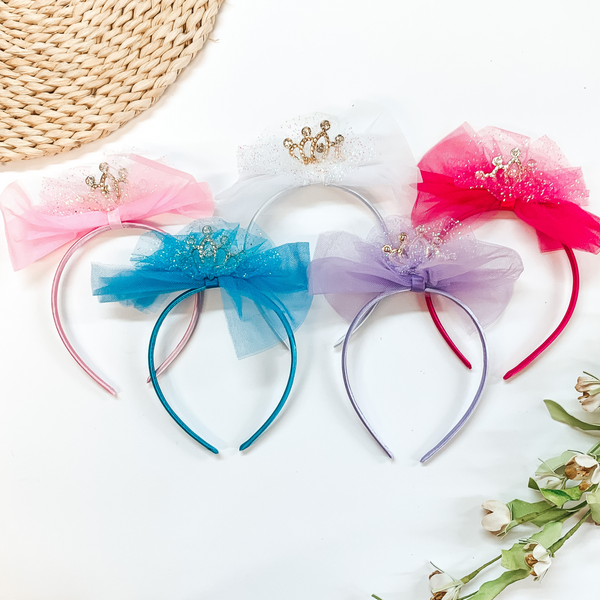 3 for $10 |  Glitter Headband with Bow and Crown
