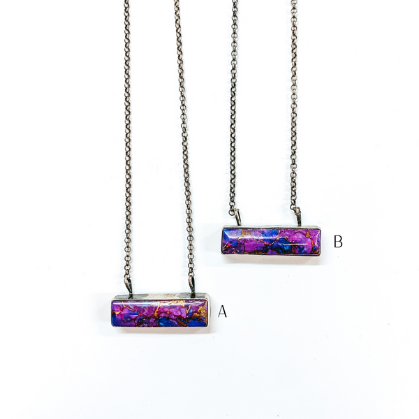 Tricia Smith | Sterling Silver Chain Necklace with Remix Mojave Turquoise Stone Bar