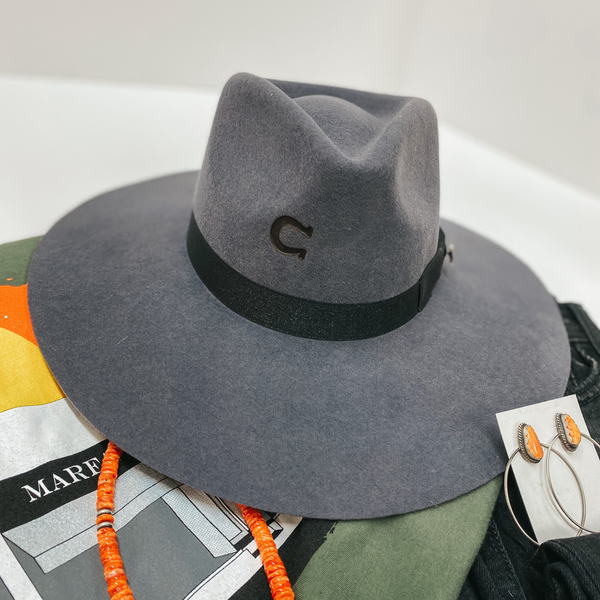 Charlie 1 Horse | Highway Wool Felt Hat in Granite