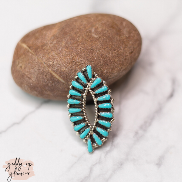 Tamera Benally | Genuine Sterling Silver and Turquoise Cluster Stone Ring