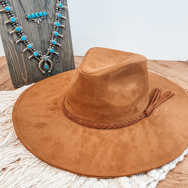 Oklahoma Hills Floppy Brim Felt Hat in Tan