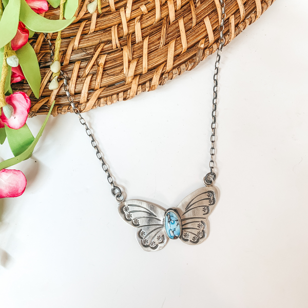 Rick Enricuez | Sterling Silver Chain Necklace with Golden Hills Butterfly Pendant