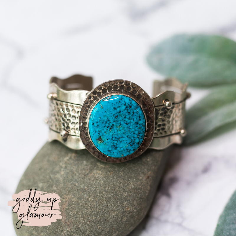 Betta Lee sterling silver navajo zuni nations native american indian handmade handcrafted sterling silver blue ridge turquoise cuff bracelet heritage style turquoise and co turqouise and teepees c rivers design our lady lil bees bohemian