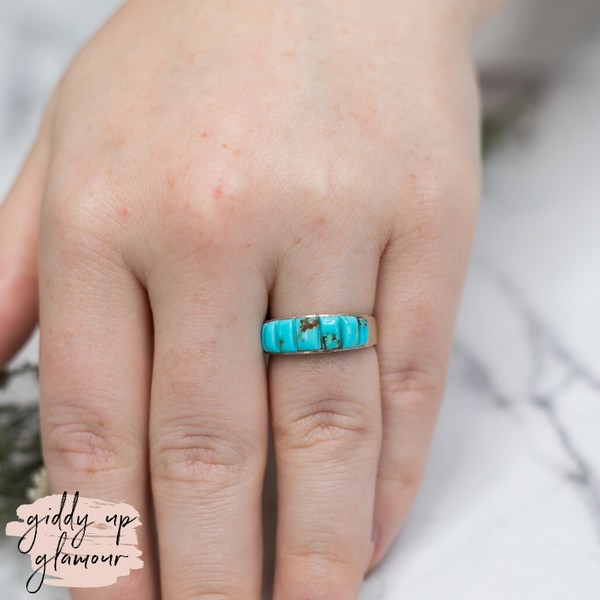 rita ybarra sterling silver authentic genuine native american navajo zuni nations indian handmade handcrafted turquoise stone band ring heritage style turquoise and co c rivers design our lady turquoise tuesday lil bees bohemian