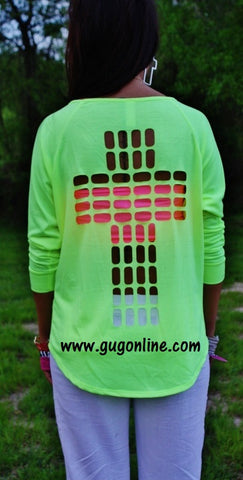 At The Cross Neon Yellow Top