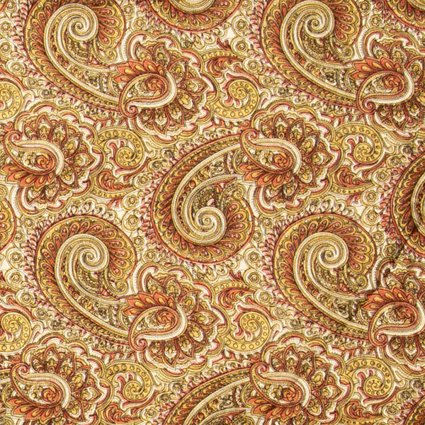Paisley Wild Rag in Brass and Bronze