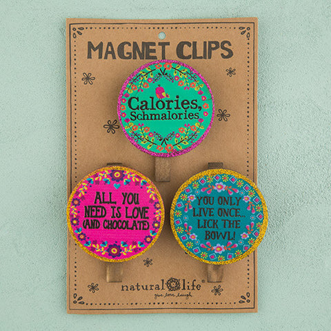 Calories Schmalories Magnet Clips