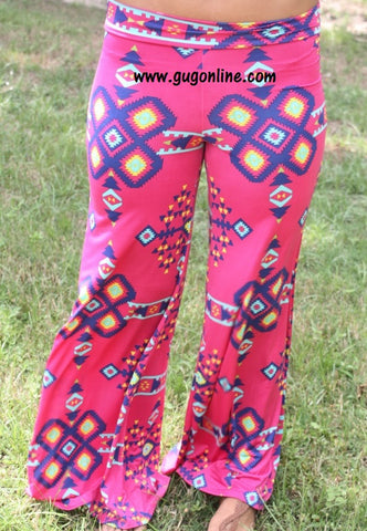 Check Me Out Pink Aztec Pants