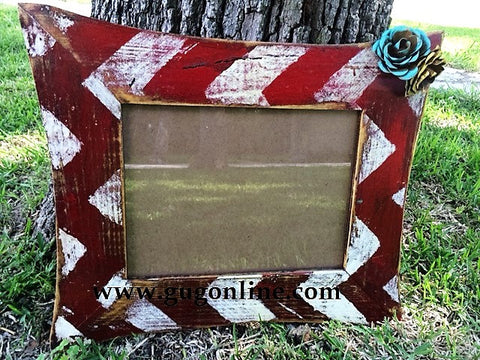 Colorful Chevron Photo Frame in Assorted Colors