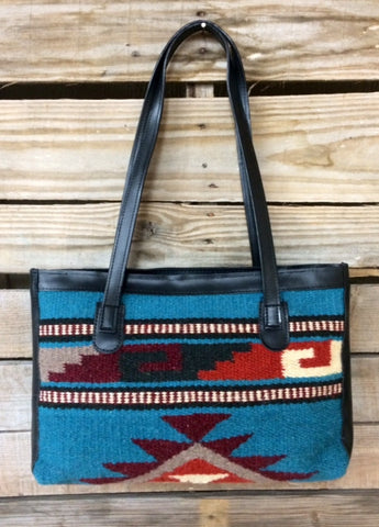 Comanche Medium Purse with Black Straps