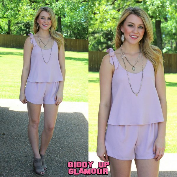 Weekend Bliss Layered Romper in Light Pink