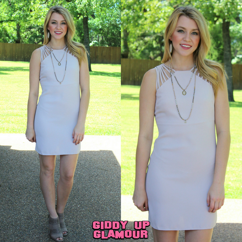 Night Like This Fitted Dress in Taupe