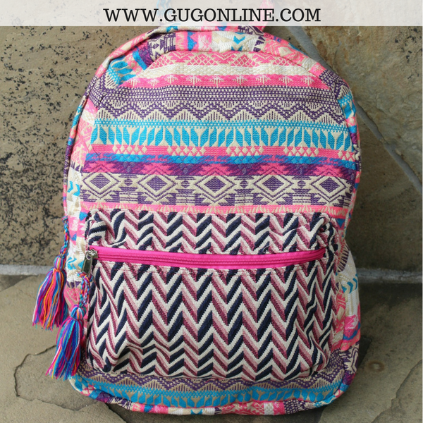 Aztec Print Backpacks | Aztec Print Accessories | Southwest Print Backpacks | Indian Inspired Fashions