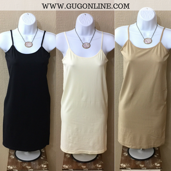 Long Solid Seamless Camisole in Khaki