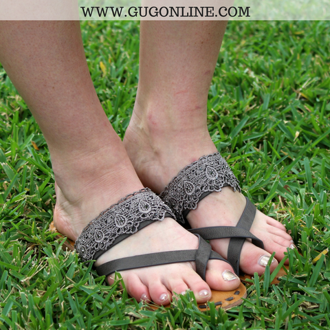 She Lacey Sandals in Taupe