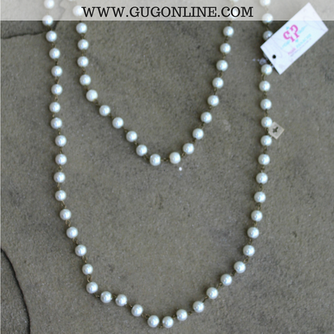 Pink Panache Long Pearl Layering Necklace - 46 Inch