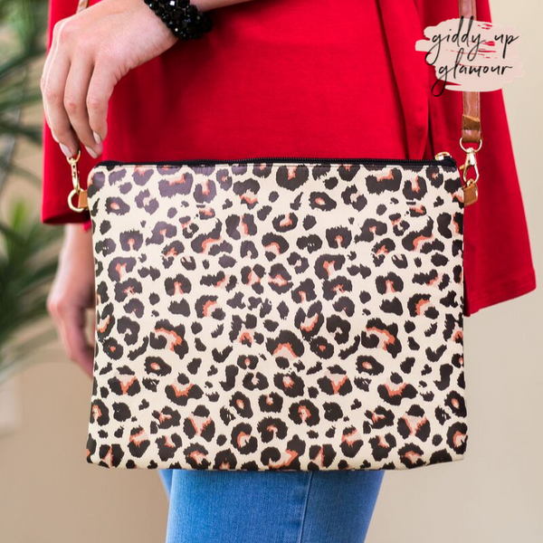 Something New Wristlet or Crossbody Leopard Purse