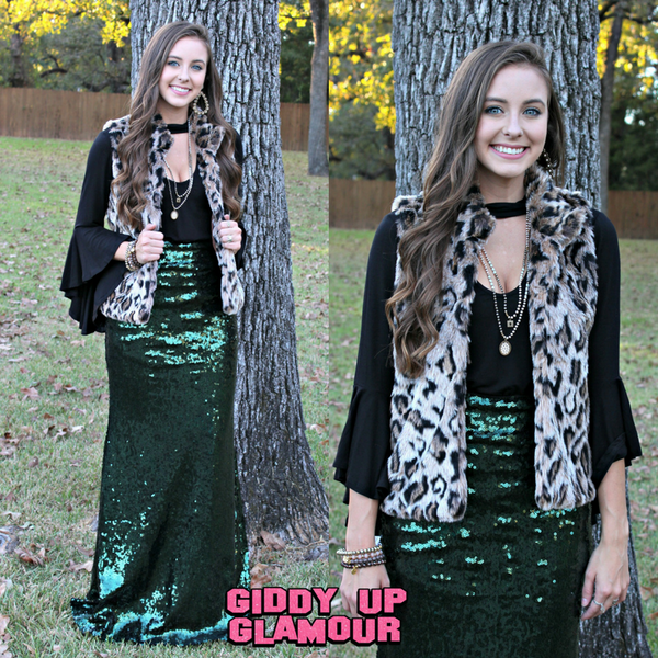 Snuggle Up In Style Faux Cheetah Fur Vest