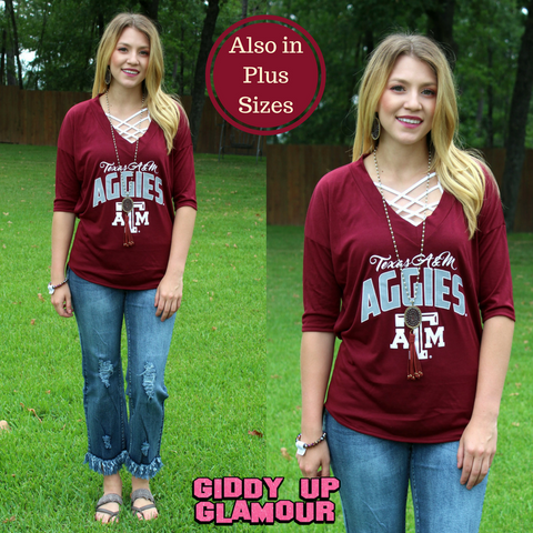 Game Day Collection: Weekend Must Have Texas A&M V Neck Dolman