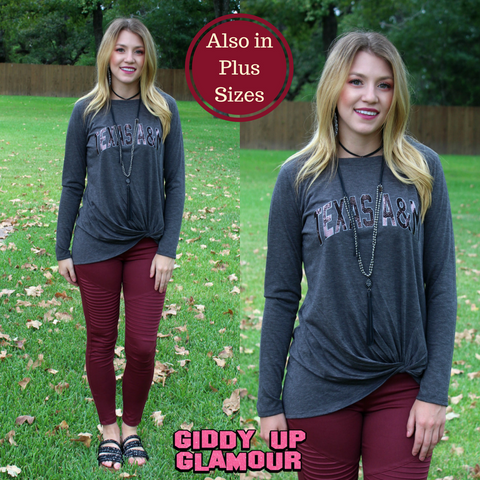 Game Day Collection: Always By Your Side Texas A&M Long Sleeve Knot Tee