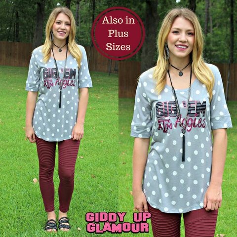Game Day Collection: In The Spotlight Texas A&M Polka Dot Tee