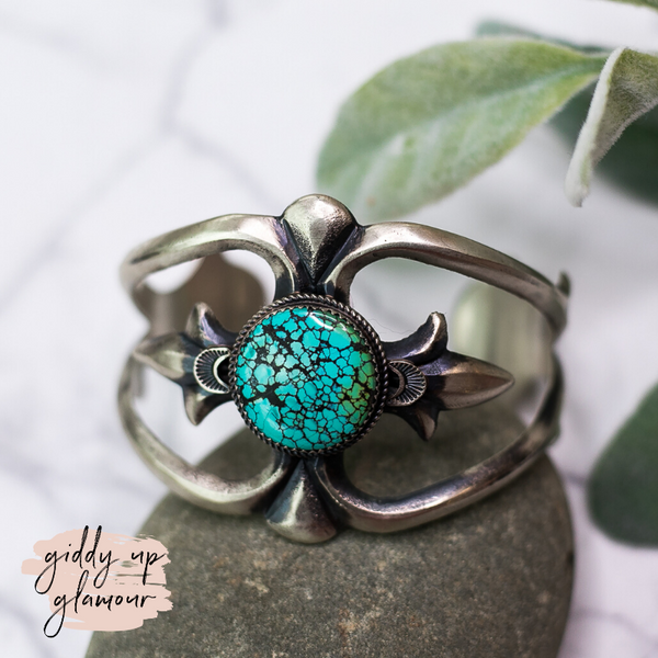 Martha Cayatineto sterling silver authentic genuine oxidized kingman turquoise cuff bracelet heritage style turquoise and co turquoise and teepees c rivers design our lady turquoise lil bees bohemian saddle tramp brand