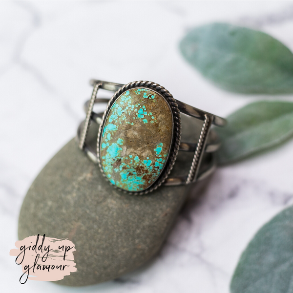 augustine largo auggie l number 8 turquoise cuff bracelet oxidized heritage style turquoise and co turquoise and teepees c rivers designs lil bees bohemian