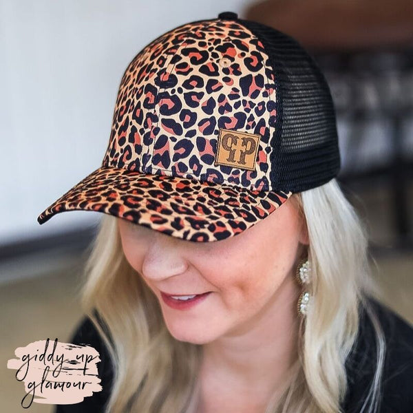 Pink Panache | Leopard Print Baseball Cap with Black Mesh Back