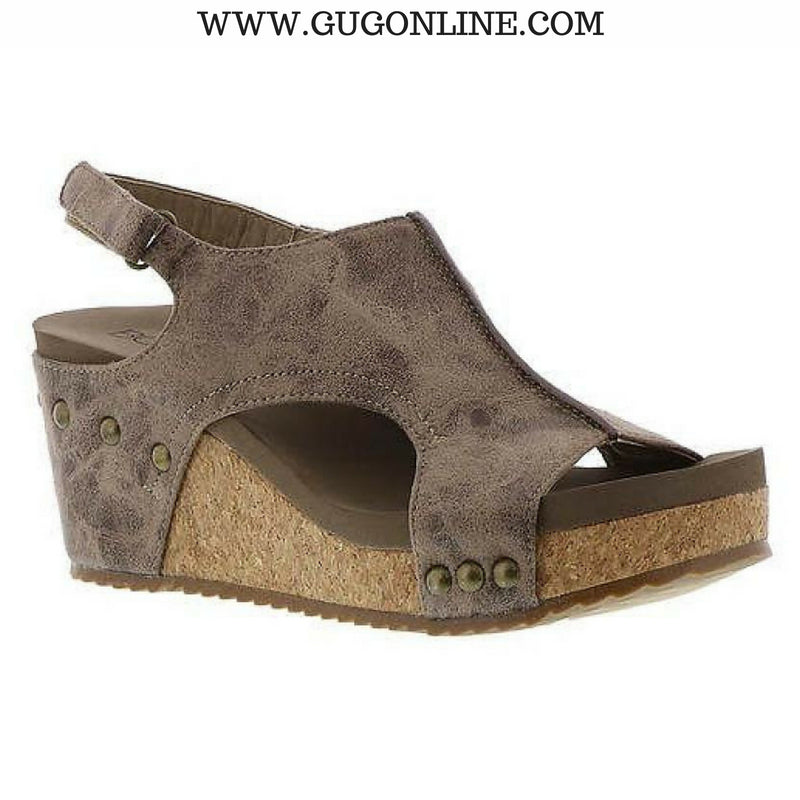 Onto The Next Step Distressed Wedges in Brown