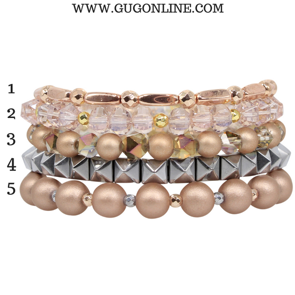 Erimish | Socialite Jar | Stackable Crystal Bracelets in Rose Gold and Silver