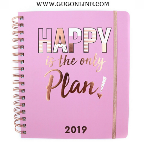 Happy is the Only Plan 2018-2019 Agenda Planner