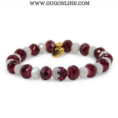 Erimish Gameday Stackables - Sam Maroon and White Crystal