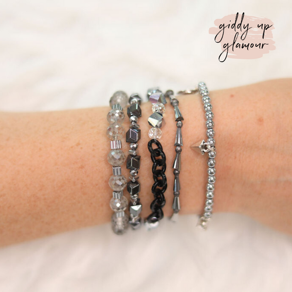 Erimish | Felix Jar | Stackable Crystal Bracelets in Silver