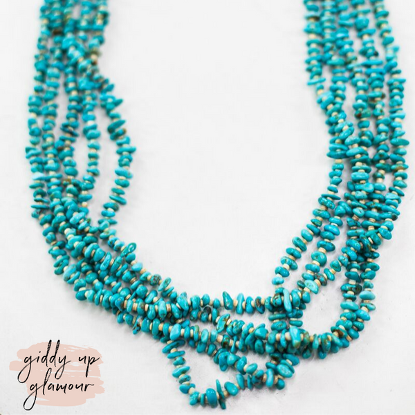 Navajo | Authentic Five Strand Turquoise and Heishi Necklace