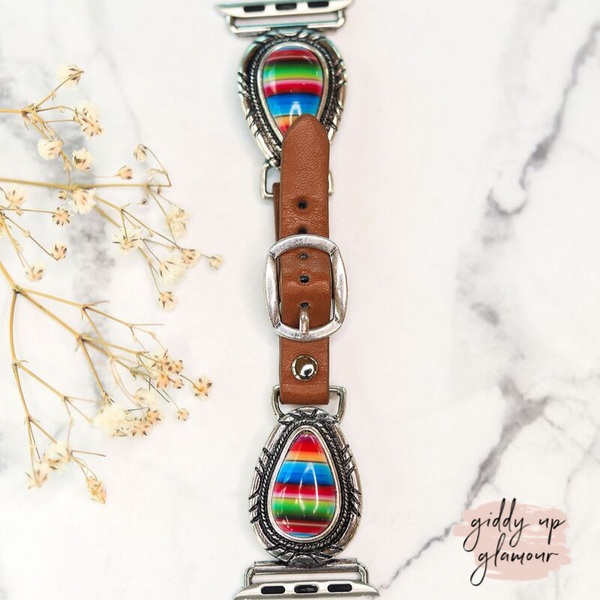 Serape Teardrop Charm Apple Watch Band