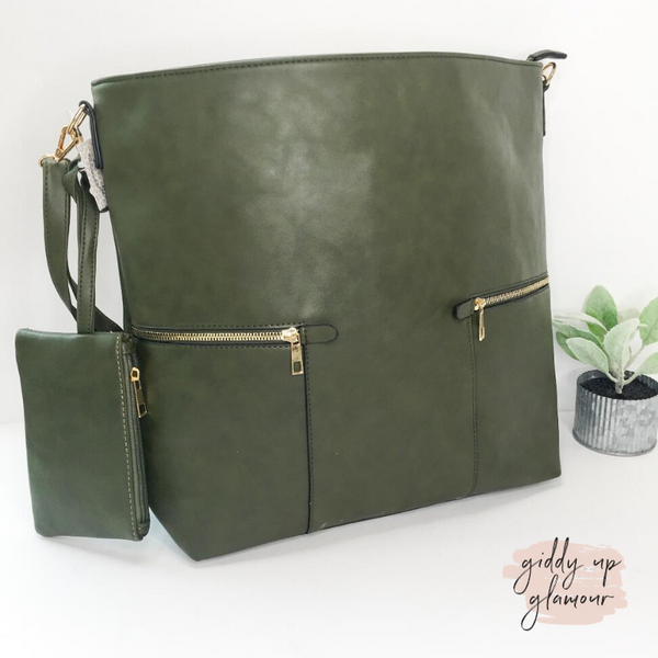 Make It Even Hobo Leather Bag in Olive