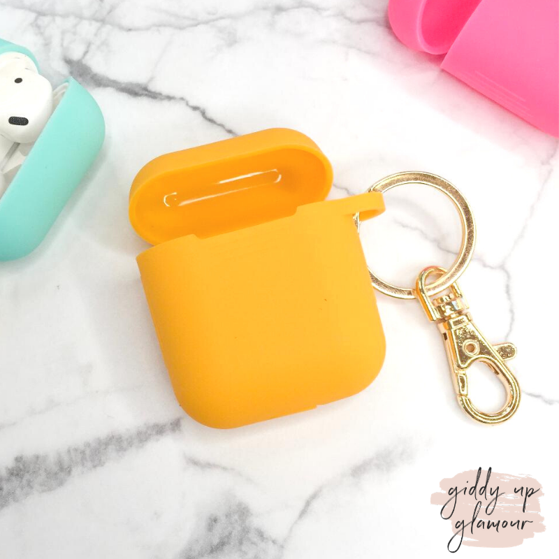 Protective AirPods Cover in Yellow