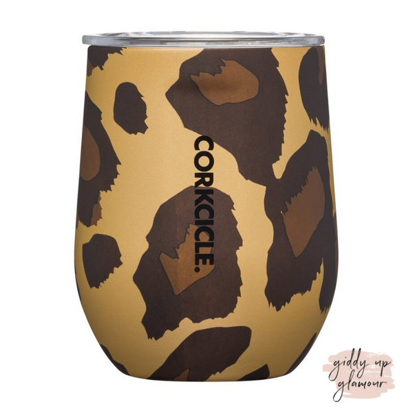 12 oz Corkcicle | Stemless - Leopard