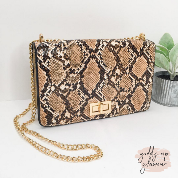 Stamp of Approval Snakeskin Shoulder Bag